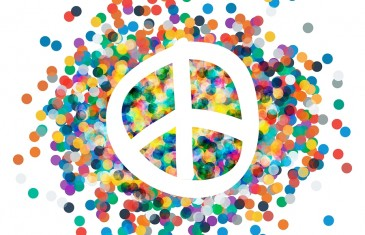 Peace sign. Beautiful symbol of peace. sign pacifism