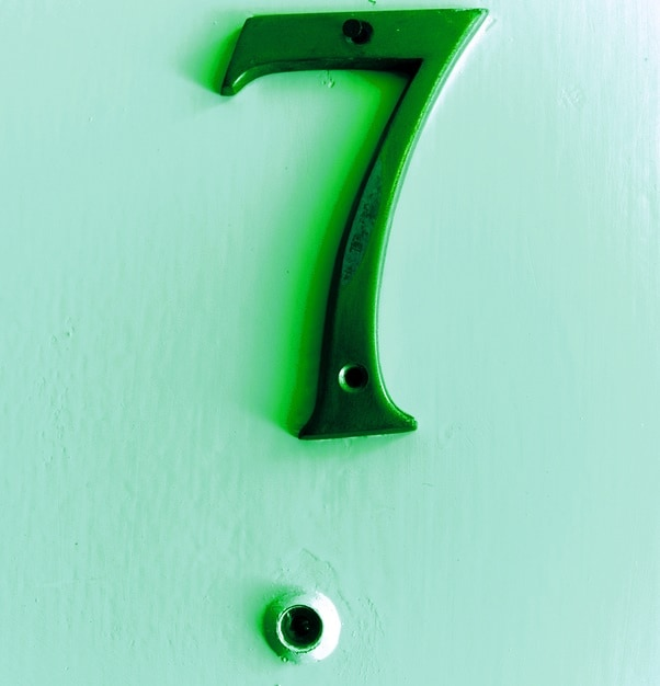 Apartment Number Seven and Eyehole Tinted in Green